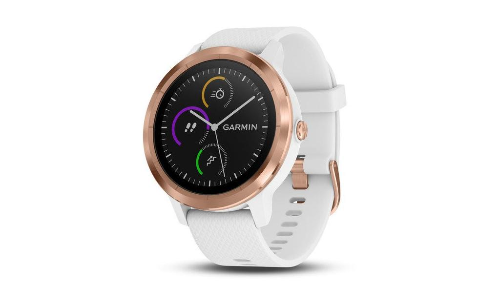 GARMIN VívoActive3 Optic Rose Gold White band