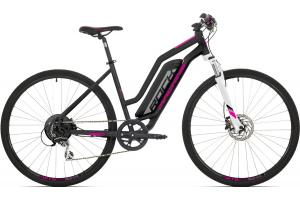ROCK MACHINE CrossRide e350 Lady matt black/silver/pink 504 Wh