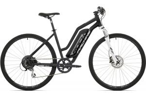 ROCK MACHINE CrossRide e350 Lady matt black/silver/white 418 Wh