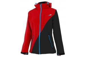 GHOST Bunda Softshell Black/red dámská