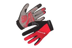 ENDURA Rukavice Hummvee Plus Red dlouhoprsté