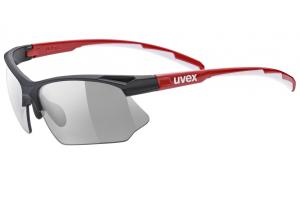 UVEX Brýle Sportstyle 802 Vario black red white/smoke (2301)