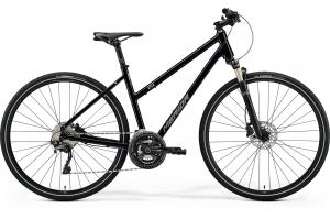 MERIDA Crossway XT-ED-Lady Glossy Black (Matt Silver)